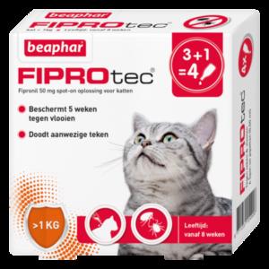 Fiprotec Spot-On kat 3+1 pipetten