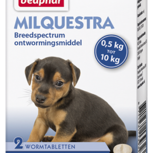 Milquestra wormtabletten kleine hond pup 2 tabl